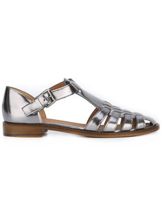 metallic flat sandals Churchs