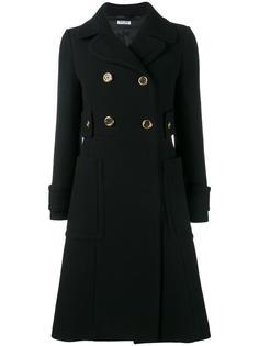 двубортное пальто  Miu Miu