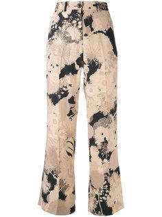 укороченные брюки с рисунком Dries Van Noten