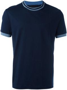 футболка с контрастной отделкой Prada