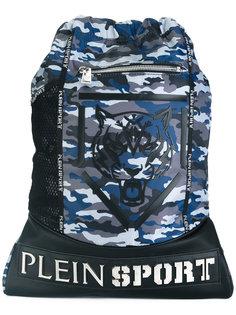 камуфляжный рюкзак с логотипом Plein Sport
