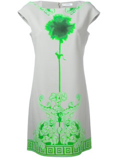 neon print shift dress Versace Collection