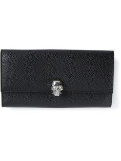 складной кошелёк с черепом Alexander McQueen