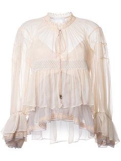 блузка дизайна колор-блок Chloé