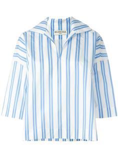 полосатая блузка свободного кроя Balenciaga