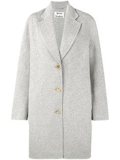 однобортное пальто Acne Studios