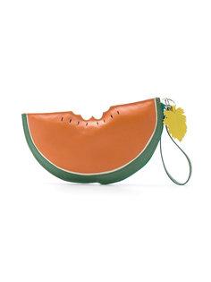 leather clutch Sarah Chofakian