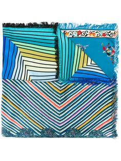 полосатый шарф с рисунками Pierre-Louis Mascia