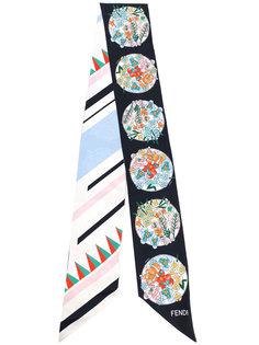 узкий шарф с принтом Fendi