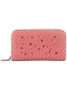 плетеный кошелек на молнии Bottega Veneta