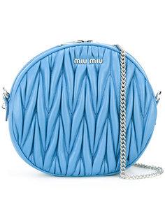 круглая сумка на плечо  Miu Miu