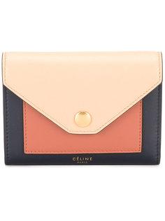 кошелек дизайна колор-блок Céline