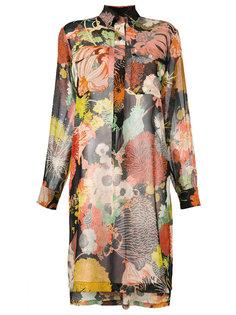 длинная блузка с цветочным принтом  Dries Van Noten