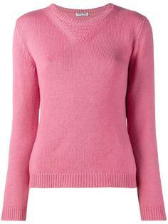 свитер с круглым вырезом  Miu Miu