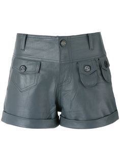 leather shorts Andrea Bogosian