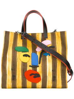 парусиновая сумка в полоску Fendi