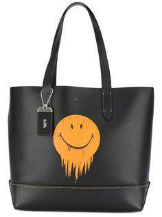 сумка-тоут с принтом смайла Coach