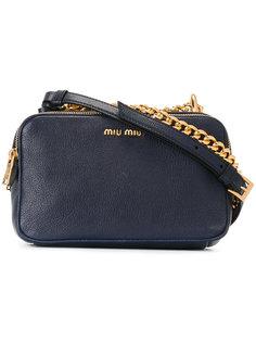 сумка через плечо с цепочной деталью Miu Miu