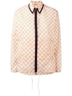 куртка-рубашка с рисунком из сердец Miu Miu