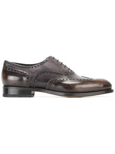 ботинки-оксфорды с перфорацией Santoni
