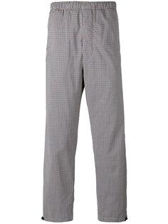 прямые клетчатые спортивные брюки Prada