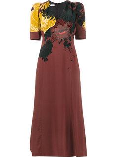 платье с цветочным принтом  Dries Van Noten