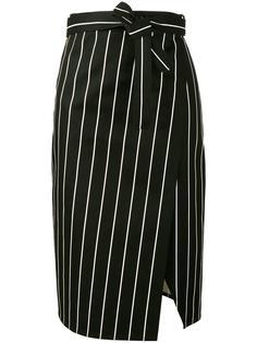 полосатая юбка с запахом Balenciaga