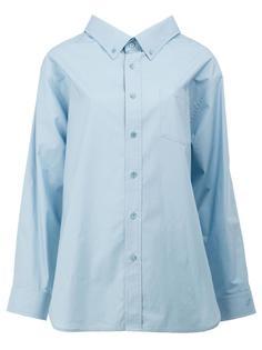 рубашка с объемным воротником Balenciaga