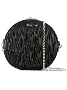 круглая сумка через плечо  Miu Miu