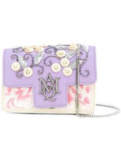сумка-сэтчел с вышивкой и логотипом Alexander McQueen
