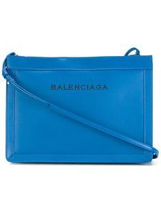 сумка через плечо с перфорированным логотипом Balenciaga