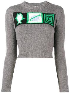 свитер вязки интарсия Miu Miu