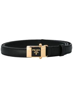 ремень с пряжкой с логотипом Prada