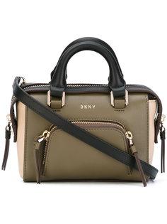 сумка-тоут с контрастной отделкой DKNY