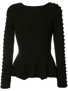 button up rib knit jumper Carolina Herrera