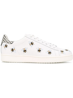 embroidered bees sneakers  Moa Master Of Arts