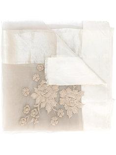 прозрачный шарф с цветочным узором Faliero Sarti