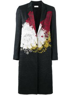 пальто с абстрактным принтом Dries Van Noten