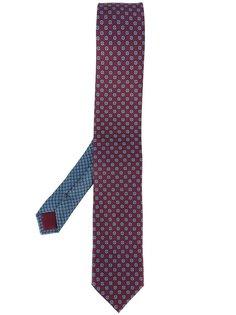 галстук с мелким принтом Prada