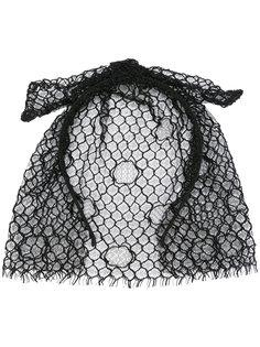 ободок для волос с вуалью и бантом Maison Michel