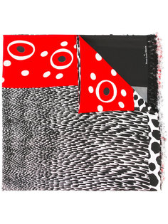 fringed spots and stripes scarf Pierre-Louis Mascia