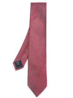 галстук с плетеным узором Ermenegildo Zegna