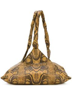 сумка на плечо с эффектом кожи питона Givenchy