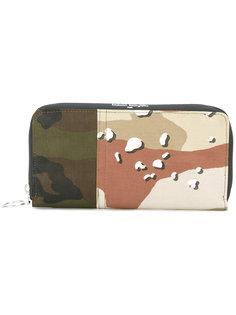 кошелек на молнии с камуфляжным принтом  Mm6 Maison Margiela