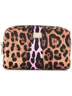 косметичка с леопардовым принтом Dolce & Gabbana