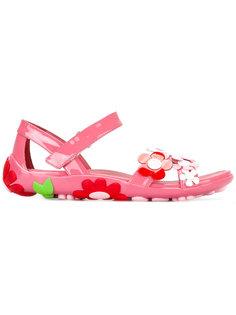 сандалии с цветочными деталями Prada