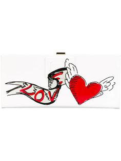 клатч с принтом сердца Roger Vivier