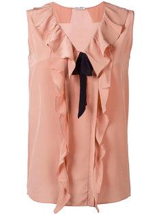 блузка с рюшами Miu Miu