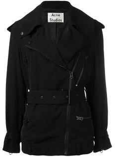 куртка на молнии с поясом  Acne Studios