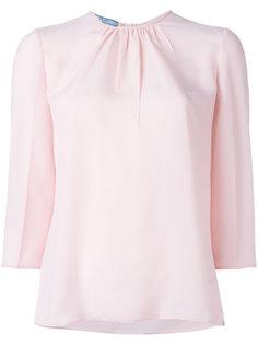блузка с присборенным вырезом Prada